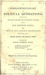 Cover of: A complete dictionary of poetical quotations
