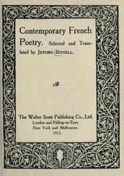Cover of: Contemporary French poetry