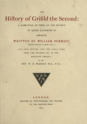 Cover of: The history of Grisild the Second