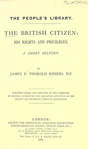 Cover of: The British citizen | Rogers, James E. Thorold