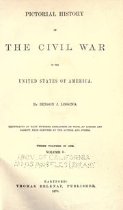 Cover of: The pictorial field book of the Civil War in the United States of America
