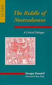 Cover of: The riddle of Nostradamus