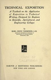 Cover of: Technical exposition