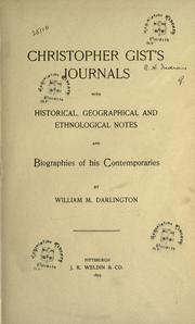 Cover of: Christopher Gist's journals