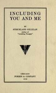 Cover of: Including you and me