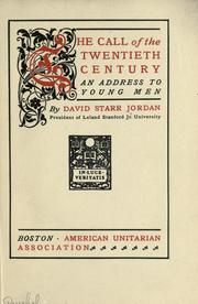 Cover of: The call of the twentieth century: an address to young men