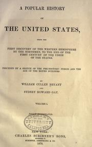 Cover of: A popular history of the United States