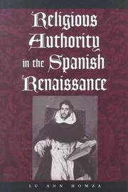 Cover of: Religious authority in the Spanish Renaissance