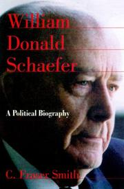 Cover of: William Donald Schaefer | C. Fraser Smith