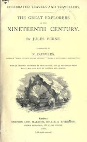 Cover of: The great explorers of the nineteenth century