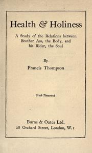 Health And Holiness by Thompson, Francis, 1859-1907