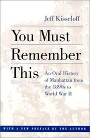 Cover of: You must remember this