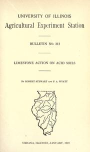 Cover of: Limestone action on acid soils