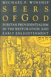 Cover of: Seers of God: Puritan Providentialism in the Restoration and Early Enlightenment (Early America: History, Context, Culture)