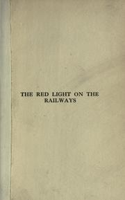 Cover of: The red light on the railways