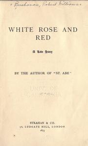 Cover of: White rose and red