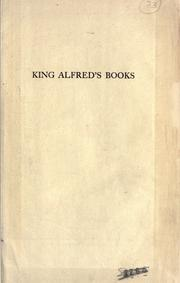 Cover of: King Alfred's Books