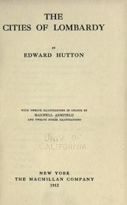 Cover of: The cities of Lombardy | Hutton, Edward