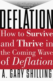 Cover of: Deflation | A. Gary Shilling
