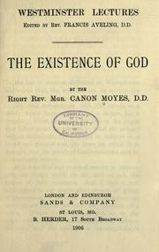 Cover of: The existence of God