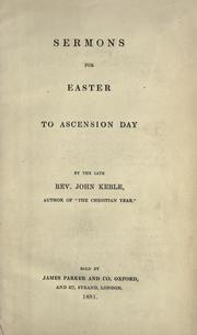 Cover of: Sermons for Easter to Ascension Day