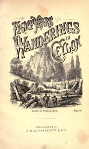 Cover of: Eight years' wanderings in Ceylon