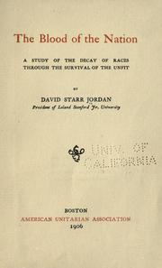 Cover of: The blood of the nation