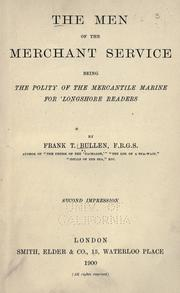 Cover of: The men of the merchant service