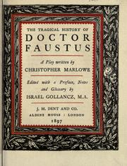Cover of: The tragical history of Doctor Faustus by Christopher Marlowe