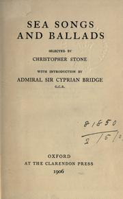 Cover of: Sea songs and ballads