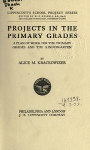 Cover of: ... Projects in the primary grades