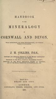 Cover of: A handbook to the mineralogy of Cornwall and Devon