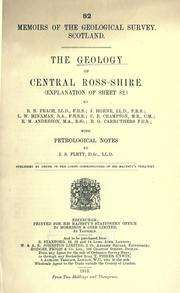 Cover of: The geology of central Ross-shire