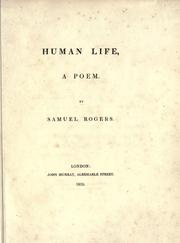 Cover of: Human life, a poem