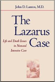 Cover of: The Lazarus Case