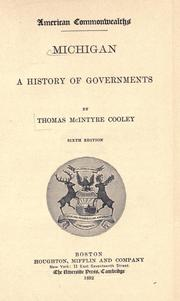 Cover of: Michigan: a history of governments