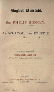 Cover of: An apologie for poetrie
