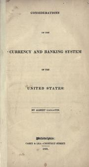 Cover of: Suggestions on the banks and currency of the several United States: in reference principally to the suspension of specie payments