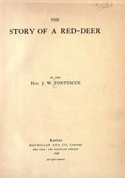 Cover of: The story of a red-deer