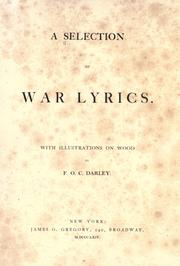 Cover of: A selection of war lyrics |