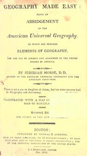 Geography made easy by Jedidiah Morse