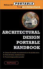 Cover of: Architectural design portable handbook