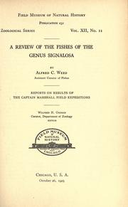 Cover of: A review of the fishes of the genus Signalosa