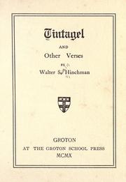 Cover of: Tintagel