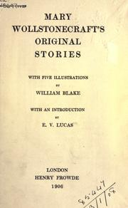 Cover of: Original stories: With five illus. by William Blake, with an introd. by E.V. Lucas.
