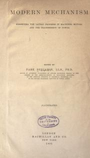 Cover of: Modern mechanism