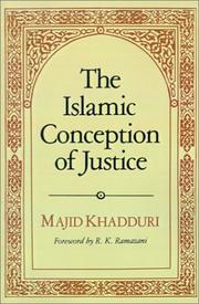 Cover of: The Islamic Conception of Justice