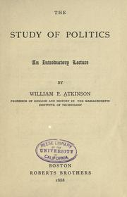 Cover of: The study of politics