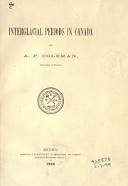 Cover of: Interglacial periods in Canada