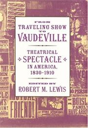 Cover of: From Traveling Show to Vaudeville by Robert M. Lewis